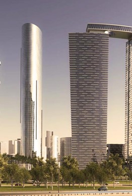 The Gate District Towers, Shams